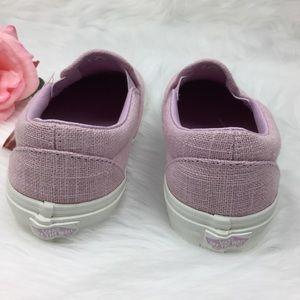 c6fed39b87 Vans Shoes - Vans Classic Slip On Hemp Linen Windsome Orchid